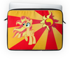 "Чехол для ноутбука 14"" ""Sunset Shimmer Color Line"" - sun, cutiemark, sunset shimmer"