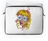 """Чехол для ноутбука 14"""" """"Без ума от цветов"""" - любовь, девушка, цветы, сердца, блондинка"""