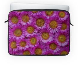 """Чехол для ноутбука 14'' """"Астры"""" - цветы, желтые, розовые, астры, сердцевина"""
