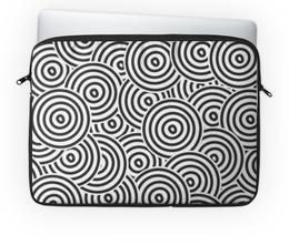 """Чехол для ноутбука 14'' """"Радиальная"""" - узор, рисунок, стильный, круги, кольца"""