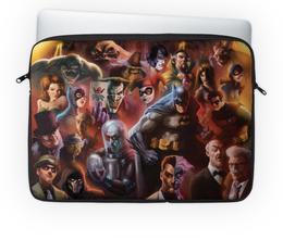 """Чехол для ноутбука 14"""" """"Batman / Бэтмен"""" - batman, арт, бэтмен, темный рыцарь, dc comics"""