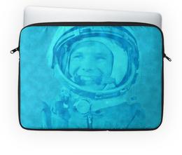 """Чехол для ноутбука 14'' """"Юрий Гагарин"""" - космос, полет, летчик, космонавт, испытатель"""