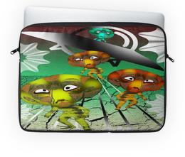 """Чехол для ноутбука 14'' """"Инопланитяне"""" - нло, марсиане, инопланитяне, лунатики, летающая тарелка"""