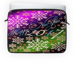 """Чехол для ноутбука 14'' """"Снежинки снега"""" - праздник, новый год, снег, снежинки, 2017"""