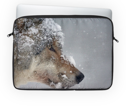 """Чехол для ноутбука 14"""" """"Snow Wolf"""" - волк, животные, wolf, animal"""