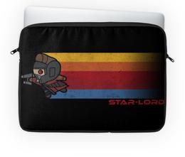"""Чехол для ноутбука 14'' """"Звёздный Лорд"""" - супергерои, marvel, марвел, звёздный лорд, star lord"""
