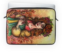 """Чехол для ноутбука 14'' """"Богиня Осени"""" - девушка, рисунок, осень, время года"""