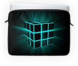 """Чехол для ноутбука 14'' """"Кубик рубик"""" - арт, абстракция, неон, кубик рубик"""