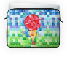 """Чехол для ноутбука 14'' """"Маффин"""" - девушка, осень, ярко, мозаика, зонт"""