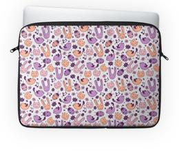 """Чехол для ноутбука 14'' """"Cartoon animals"""" - коты, мульт, cartoon, animals, зайцы"""