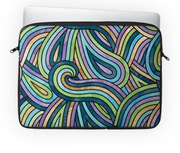 """Чехол для ноутбука 14'' """"Волнистый"""" - узор, стиль, орнамент, абстракция, волны"""