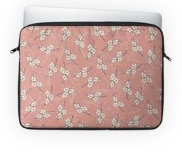 "Чехол для ноутбука 14'' ""Цветы"" - цветок, вишня, сакура, цветение, ветка"