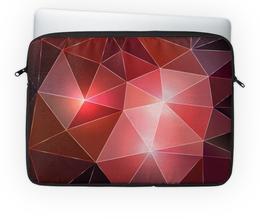 """Чехол для ноутбука 14'' """"Полигонал"""" - красный, абстракция, иллюстрация, полигональный"""
