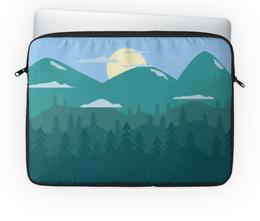 """Чехол для ноутбука 14"""" """"Ночные горы"""" - природа, горы, луна, пейзаж"""