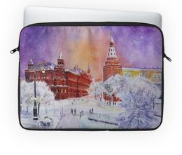 """Чехол для ноутбука 14'' """"Новогодняя Москва"""" - новый год, москва, снег, красная площадь, рождестово"""