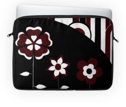 """Чехол для ноутбука 14'' """"Бордо"""" - цветы, подарок, бордо"""