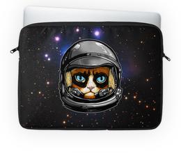 """Чехол для ноутбука 14'' """"Кот в скафандре"""" - кот, космос, вселенная, starcraft, скафандр"""