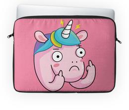 """Чехол для ноутбука 14'' """"Unicorn / Единорог"""" - арт, животные, unicorn, иллюстрация, единорог"""