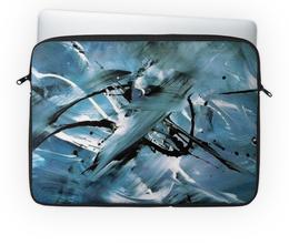 "Чехол для ноутбука 14'' ""ТриХХХ"" - краски, абстракция, взмах"