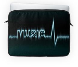 """Чехол для ноутбука 14'' """"Music"""" - музыка, стиль, сердцебиение"""