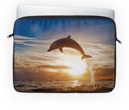 """Чехол для ноутбука 14'' """"Дельфин"""" - природа, фотография, дельфин"""