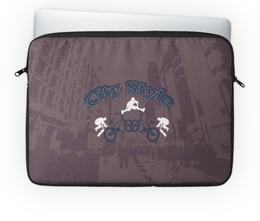 """Чехол для ноутбука 14'' """"Городской стиль"""" - скейтборд, спорт, город, ролики, велосипед"""