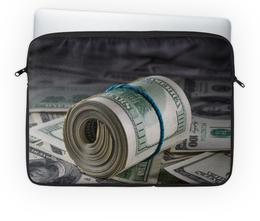 """Чехол для ноутбука 14'' """"Деньги"""" - деньги, доллары, купюры, банкноты, банк"""