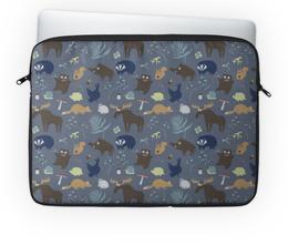 """Чехол для ноутбука 14"""" """"Лесная жизнь"""" - животные, лес, природа, звери, мимими"""