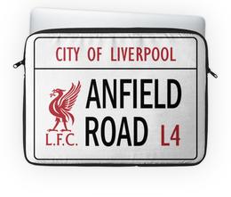 """Чехол для ноутбука 14"""" """"Футбольный клуб Liverpool"""" - футбол, ливерпуль, liverpool, lfc"""