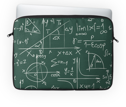 "Чехол для ноутбука 14'' ""Математика"" - символы, математика, формулы, графики, константы"