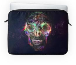 "Чехол для ноутбука 14"" ""Skull - 17"" - skull, череп, арт, дизайн, rock and roll"