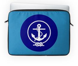 """Чехол для ноутбука 14'' """"Морской разведчик"""" - море, якорь, канат"""