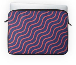 """Чехол для ноутбука 14'' """"Волнистая"""" - рисунок, стильный, полосатый, волнистый, узорный"""