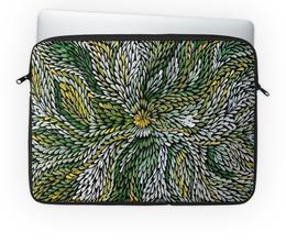"""Чехол для ноутбука 14'' """"Калейдоскоп"""" - природа, листва, калейдоскоп"""