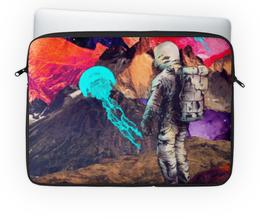 """Чехол для ноутбука 14'' """"Фантастический ландшафт"""" - арт, space, абстракция, космонавт, пространство"""