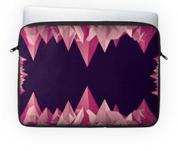 """Чехол для ноутбука 14'' """"Розовые кристаллы"""" - арт, треугольник, абстракция, кристаллы"""