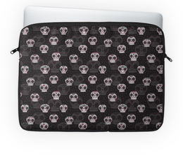 """Чехол для ноутбука 14'' """"Черепа"""" - череп, праздник, цветы, узоры, орнамент"""