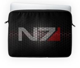 "Чехол для ноутбука 14'' ""Mass Effect"" - mass effect, n7, масс эффект"