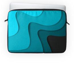 """Чехол для ноутбука 14"""" """"Волнистый"""" - волнистый, стиль, узор, абстракция, абстрактный"""