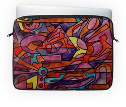 """Чехол для ноутбука 14'' """"DZ,P9////O`FV"""" - арт, узор, абстракция, фигуры, текстура"""