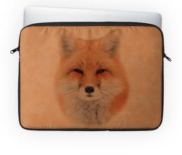 """Чехол для ноутбука 14'' """"Лисица"""" - лиса, животное, рыжая, мех, хитрая"""