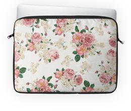"""Чехол для ноутбука 14'' """"Цветы"""" - цветы, роза, букет, шиповник, бутон"""