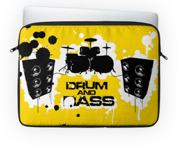 """Чехол для ноутбука 14"""" """"Drum and Bass"""" - drum & bass, drum and bass, музыка, день рождения"""