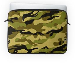"""Чехол для ноутбука 14'' """"Интернет"""" - хаки, военная форма, материя цвета хаки"""