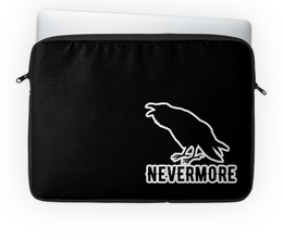 "Чехол для ноутбука 14'' ""Nevermore"" - crow, bird, nevermore, edgar, rawen"