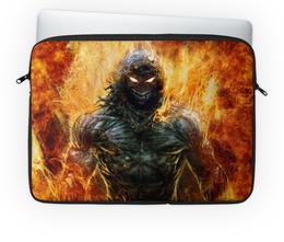 """Чехол для ноутбука 14'' """"Distubedr"""" - арт, огонь, графика, disturbed"""