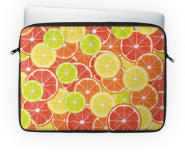 "Чехол для ноутбука 14'' ""Цитрусы"" - апельсин, лайм, лимон, грейпфрут, цитрусы"