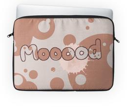 """Чехол для ноутбука 14'' """"Mooood"""" - настроение, коровка"""