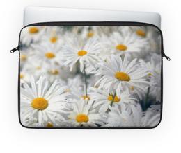 """Чехол для ноутбука 14'' """"Ромашки"""" - цветы, цветок, белый, ромашка, желтый"""
