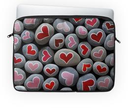 """Чехол для ноутбука 14'' """"Камушки"""" - сердце, любовь, подарок, камушки"""